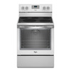 Whirlpool Smooth Surface Freestanding 5-Element 6.4-cu ft Self-Cleaning Convection Electric Range (White Ice) (Common: 30-in; Actual: 29.87-in)