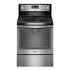Whirlpool Smooth Surface Freestanding 5-Element 6.4-cu ft Self-Cleaning Convection Electric Range (Black-On-Stainless) (Common: 30-in; Actual: 29.87-in)