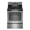 Whirlpool Smooth Surface Freestanding 5-Element 6.4-cu ft Self-Cleaning Convection Electric Range (Stainless Steel) (Common: 30-in; Actual: 29.87-in)