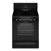 Whirlpool 4-Burner Freestanding 5-cu ft Gas Range (Black) (Common: 30-in; Actual: 29.875-in)