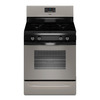 Whirlpool 4-Burner Freestanding 5-cu ft Gas Range (Silver) (Common: 30-in; Actual: 29.875-in)