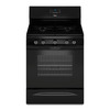 Whirlpool 5-Burner Freestanding 5-cu ft Convection Gas Range (Black) (Common: 30-in; Actual: 29.875-in)