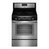Whirlpool 5-Burner Freestanding 5-cu ft Convection Gas Range (Black-On-Stainless) (Common: 30-in; Actual: 29.875-in)
