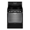 Whirlpool 5-Burner Freestanding 5.8-cu Self-Cleaning Convection Gas Range (Black Ice) (Common: 30-in; Actual: 29.87-in)