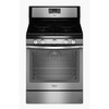 Whirlpool 5-Burner Freestanding 5.8-cu Self-Cleaning Convection Gas Range (Black-On-Stainless) (Common: 30-in; Actual: 29.87-in)