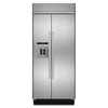 KitchenAid 20.8-cu ft Counter-Depth Built-In Side-by-Side Refrigerator with Single Ice Maker (Stainless Steel)