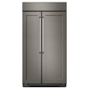 KitchenAid 25.5-cu ft Counter-Depth Built-In Side-by-Side Refrigerator with Single Ice Maker (Panel Ready)