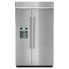 KitchenAid 29.5-cu ft Counter-Depth Built-in Side-by-Side Refrigerator with Single Ice Maker (Stainless Steel) ENERGY STAR