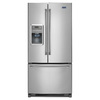 Maytag 21.7-cu ft French Door Refrigerator with Single Ice Maker (Monochromatic Stainless Steel)