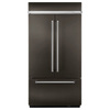 KitchenAid 24.2-cu ft 3 Counter-Depth French Door Refrigerator Single Ice Maker (Black Stainless Steel) ENERGY STAR