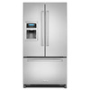 KitchenAid 19.72-cu ft Counter-Depth French Door Refrigerator with Single Ice Maker (Stainless Steel)