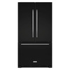 KitchenAid 21.94-cu ft Counter-Depth French Door Refrigerator with Single Ice Maker (Black)