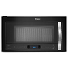 Whirlpool 1.9-cu ft Over-the-Range Convection Microwave with Sensor Cooking Controls (Black Ice) (Common: 30-in; Actual: 29.938-in)