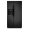 KitchenAid 24.8-cu ft Side-by-Side Refrigerator with Single Ice Maker (Black) ENERGY STAR