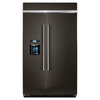 KitchenAid 29.5-cu ft Counter-Depth Built-in Side-By-Side Refrigerator Single (Black Stainless Steel) ENERGY STAR