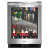 Whirlpool 5.8-cu ft Monochromatic Stainless Steel Built-In/Freestanding Beverage Center
