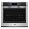 Whirlpool Self-Cleaning Convection Single Electric Wall Oven (Stainless Steel) (Common: 30-in; Actual 30-in)