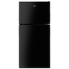 Whirlpool 18.2-cu ft Top-Freezer Refrigerator with Single Ice Maker (Black) ENERGY STAR