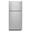 Maytag 18.1-cu ft Top-Freezer Refrigerator (Monochromatic Stainless Steel)