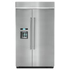 KitchenAid 29.52-cu ft Counter-Depth Built-In Side-by-Side Refrigerator with Single Ice Maker (Stainless Steel) ENERGY STAR