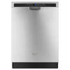 Whirlpool 50-Decibel Built-In Dishwasher (Monochromatic Stainless Steel) (Common: 24-in; Actual: 23.875-in) ENERGY STAR