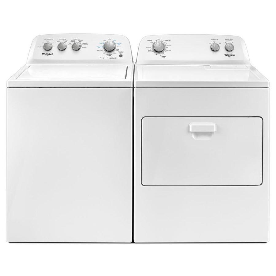Whirlpool 3 5 Cu Ft High Efficiency Top Load Washer With Soaking Cycles White In The Top Load Washers Department At Lowes Com