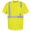 Red Kap Large Safety Green High Visibility Reflective T-Shirt