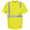 Red Kap Small Safety Green High Visibility Reflective T-Shirt