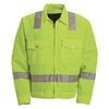 Red Kap 46 Unisex Flourescent Yellow Twill High and Enhanced Visibility Bomber Jacket