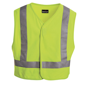 Bulwark X-Large Yellow Modacrylic/Aramid High/Enhanced Visibility Flame Resistant Safety Vest