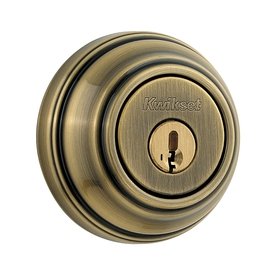 Kwikset 980 Series Smartkey Antique Brass Commercial/Residential Single-Cylinder Deadbolt