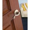 Kwikset Signature Lido Satin Nickel Universal Turn Lock Privacy Door Lever