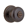 Kwikset Juno Venetian Bronze Round Turn-Lock Residential Privacy Door Knob