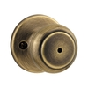 Kwikset Cove Antique Brass Round Turn-Lock Residential Privacy Door Knob