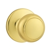 Kwikset Cove Polished Brass Residential Dummy Door Knob