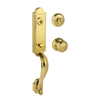 BALDWIN Prestige Avendale SmartKey Lifetime Polished Brass Single-Lock Keyed Entry Door Handleset