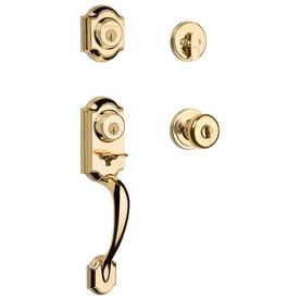 Kwikset Montara SmartKey Polished Brass Residential Single-Lock Door Handleset