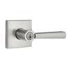 BALDWIN Prestige Spyglass SmartKey Satin Nickel Universal Keyed Entry Door Lever