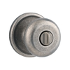 Kwikset Hancock Rustic Pewter Round Turn-Lock Residential Privacy Door Knob