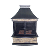 Garden Treasures 24000 BTU Stone Steel Outdoor Liquid Propane Fireplace