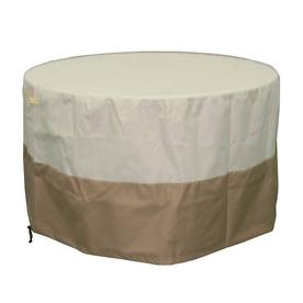 Garden Treasures 23.5-in Beige-Khaki Round Firepit Cover