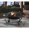 Garden Treasures 39-in W Black/High Temperature Painted Steel Wood-Burning Firepit