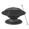 Garden Treasures 29.5-in W Black High Temperature Painted Steel Wood-Burning Fire Pit
