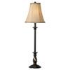 Portfolio 28.5-in Dark Brass Indoor Table Lamp with Fabric Shade