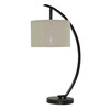 allen + roth 26-in Oil-Rubbed Bronze Indoor Table Lamp with Fabric Shade
