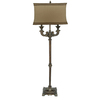 Absolute Decor 63.5-in Brushed Nickel Indoor Floor Lamp with Fabric Shade