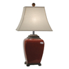 Absolute Decor 28-in 3-Way China Red Table Lamp with Off-White Shade