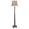 Absolute Decor 64-in Taupe Washed Bronze Floor Lamp with Toffee Shade