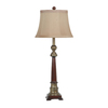 Absolute Decor 34-in 3-Way Walnut Table Lamp with Toffee Shade