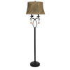 Absolute Decor 62-in 2-Light Black Bronze Floor Lamp with Caramel Shade